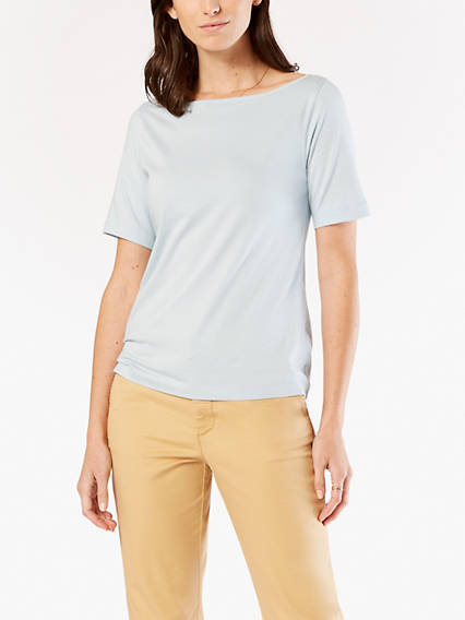 Half-Sleeve Boatneck Shirt