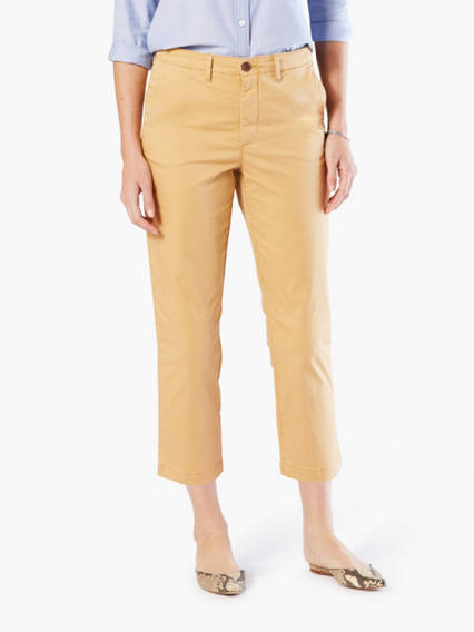 Dockers Weekend Chino Capri Pants - Women's 12 A staple for spring and summer. These easy chinos are made from soft and breathable stretch twill, and are cut in a laid-back seasonal fit. Weekend Chino Capri Pants - Women's 12 - Lark. Dockers Official Site.