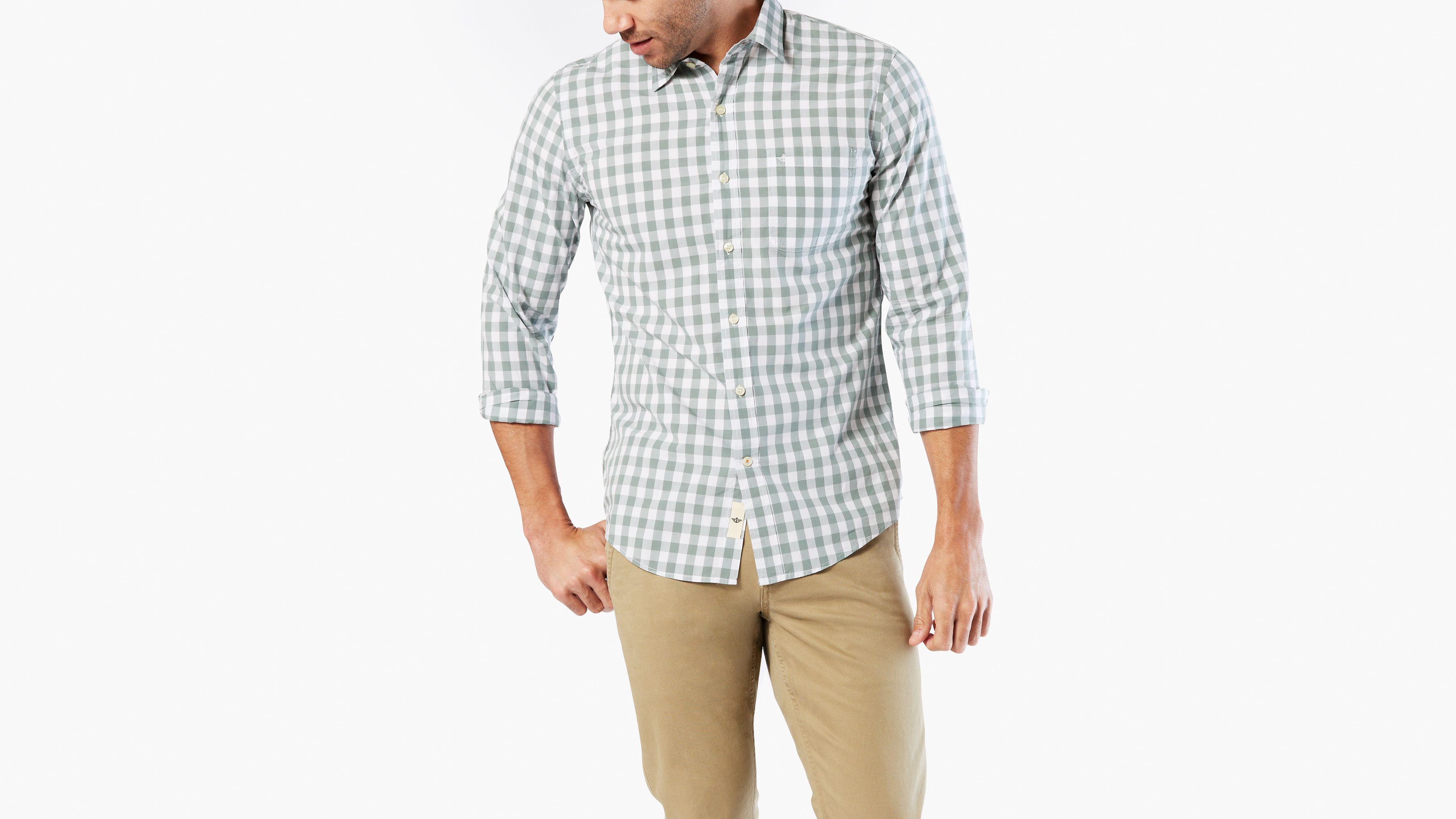 Laundered Poplin Shirt, Slim Fit