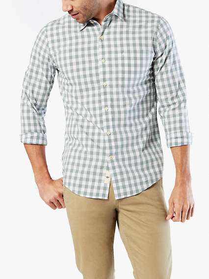 Laundered Poplin Shirt, Slim Fit