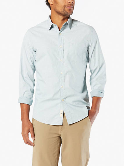 Laundered Poplin, Slim Fit