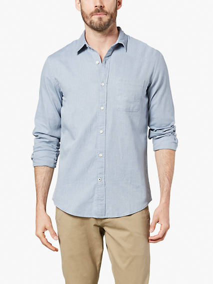 Laundered Poplin Shirt - Dobby