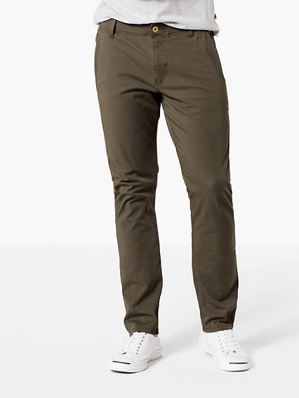 ALPHA KHAKI WITH SMART 360 FLEX, SKINNY