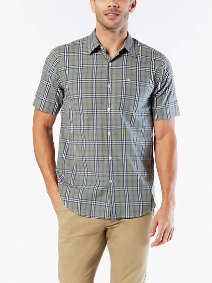 Men's Big & Tall Washed Poplin Button-Up Shirt