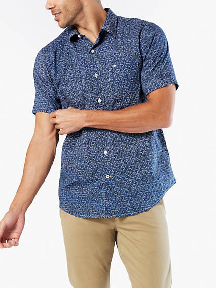 Big & Tall Washed Poplin Button-Up Shirt