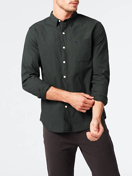 Washed Poplin Slim