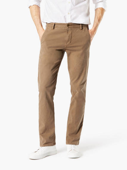 Dockers® Alpha Men's Khaki Pants Casual Washed, Slim Tapered Fit