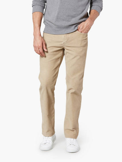 Jean Cut Pants Cord, Straight Fit