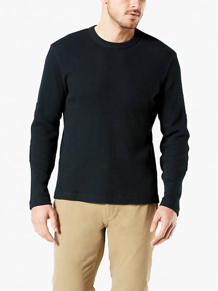 Crewneck Waffle Knit Shirt
