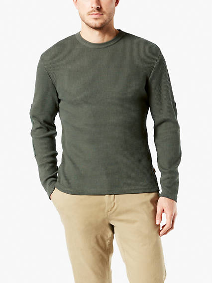 Henley Waffle Knit