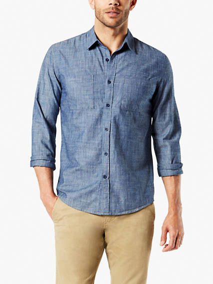 New Chambray Button-Up Shirt