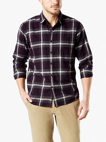 Tech Flannel Button-Up Shirt, Standard Fit