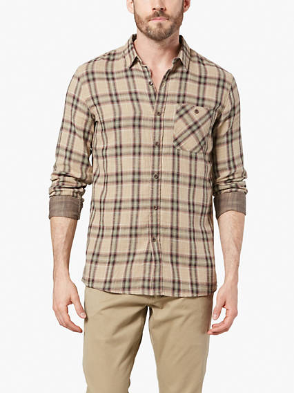 Dockers® Alpha Double Weave Button-Up Shirt, Slim Fit