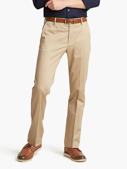 Alpha Creased Chino, Slim Tapered Fit - Stretch Sateen