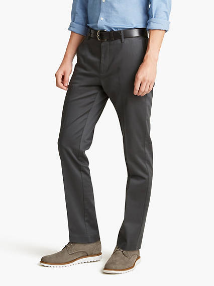 Alpha Creased Chino Slim Tapered - Stretch Sateen