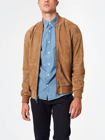 Men's Suede Bomber