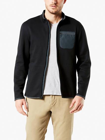 Men's Full Zip Sweater Fleece Jacket