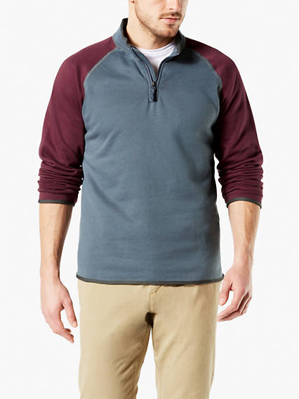 Quarter Zip Sweater Fleece Jacket