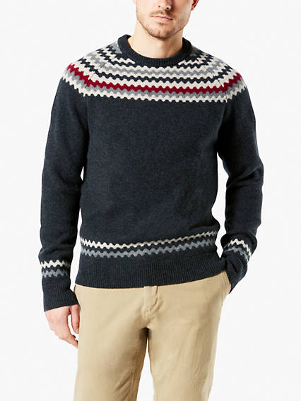 Chunky Fairisle Crewneck Sweater