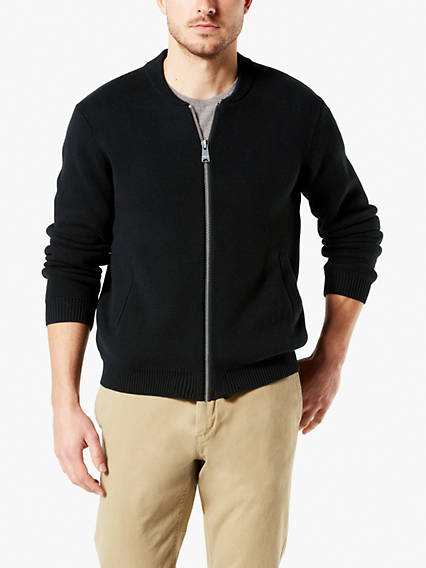 Men's Bomber Sweater Jacket