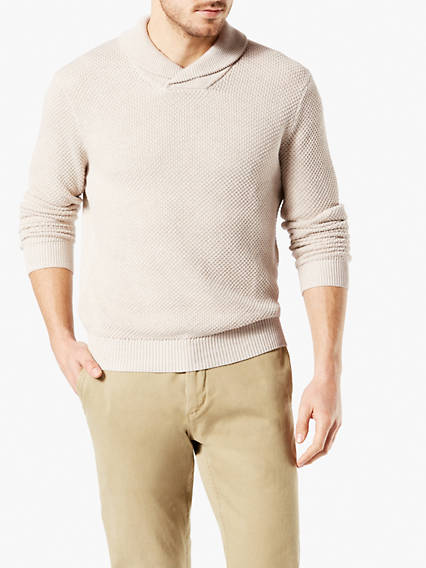 Men's Cotton Shawl Popover Sweater
