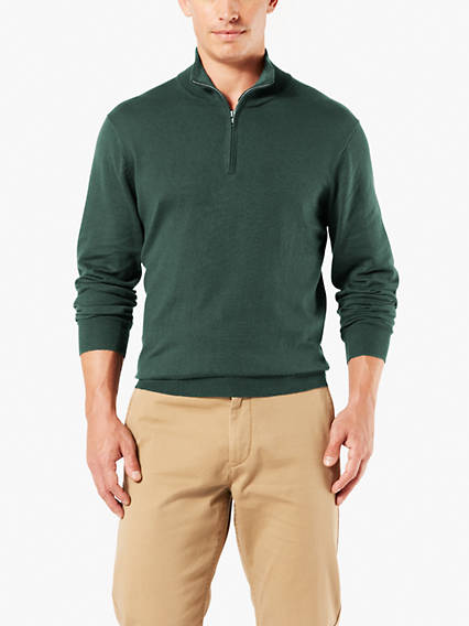 Cotton Half-Zip Sweater