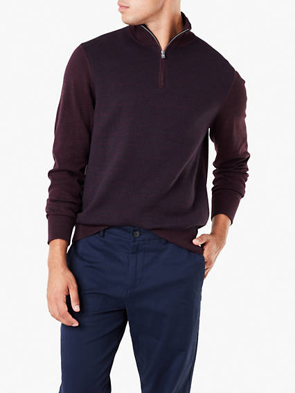 Cotton 1/4 Zip Sweater