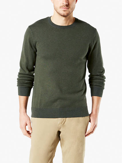 Men's Plaited Jersey Crew Sweatshirt