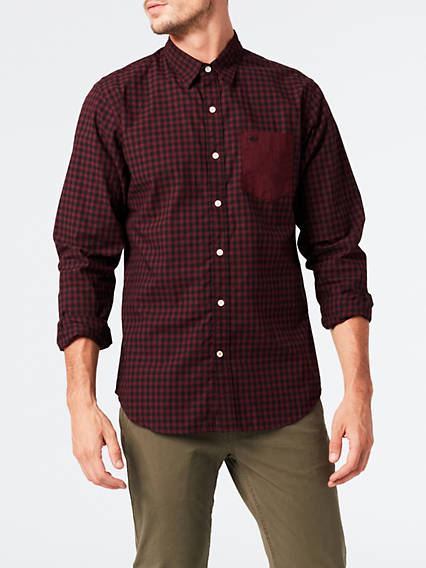 Mixed Media Pocket Shirt