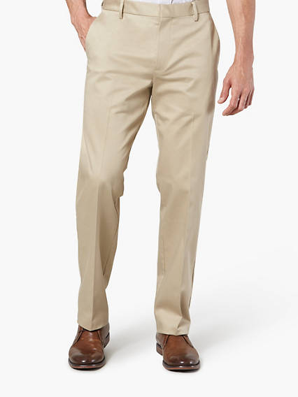 Alpha Creased Chino Straight - Stretch Sateen
