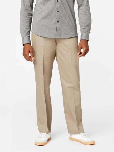DOCKERS Hommes Coupe Droite Plat Avant Pantalon Signature Khaki Genuine balises