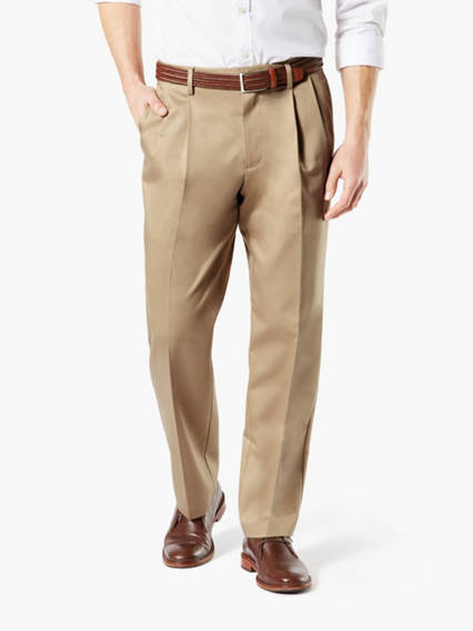 Dockers® Alpha Men's Iron Free Khaki Pleated Pants, Classic Fit