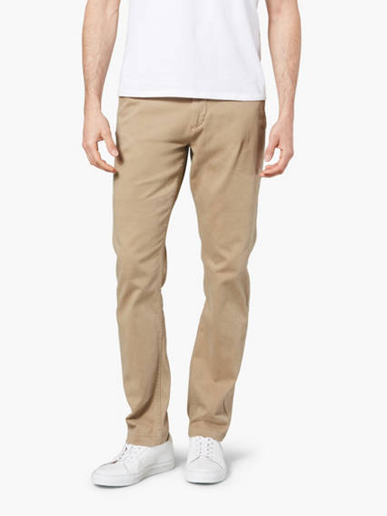 Washed Khaki Pants, Tapered Fit