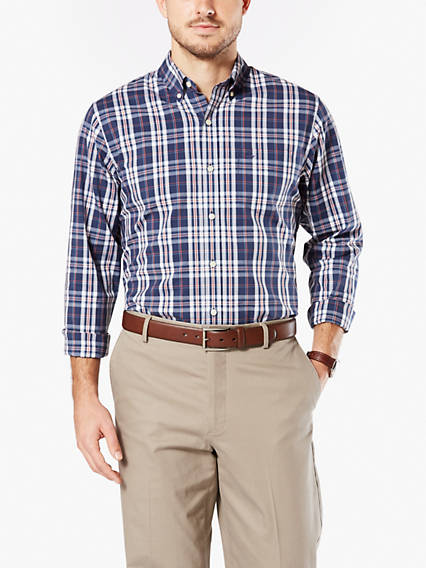 Soft No Wrinkle Button-Up Shirt, Standard Fit