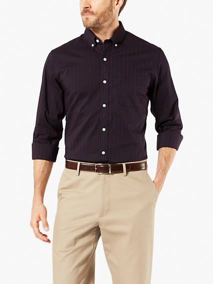 Signature Comfort Flex Button-Up Shirt, Standard Fit