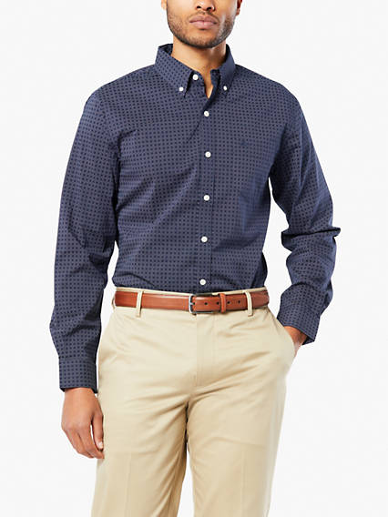 Signature Comfort Flex No Wrinkle Button-Down Shirt, Standard Fit