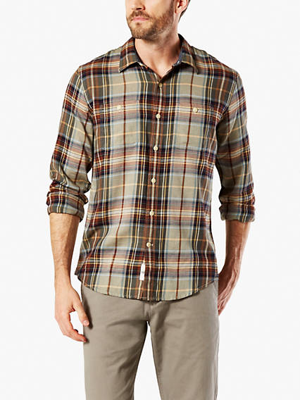 Coastal Twill Button-Up Shirt