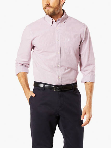 Essentail Poplin Button-Up Shirt, Standard Fit