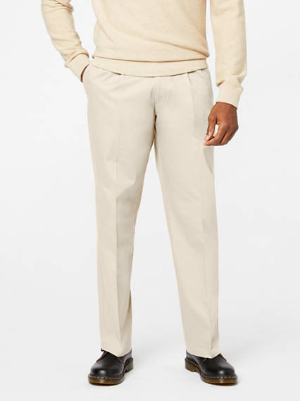 Signature Khaki Pleated Pants, Relaxed Fit