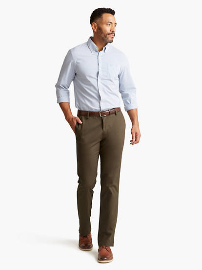 4d1ddff530eabc Signature Khaki Pants, Athletic Fit - Green 679760005 | Dockers® US