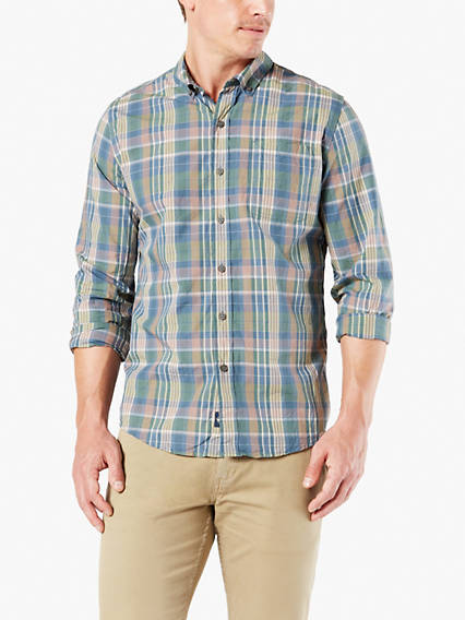 Checked Shirt - Laundered Poplin