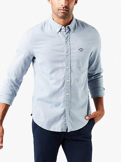 Laundered Poplin Shirt- Dobby