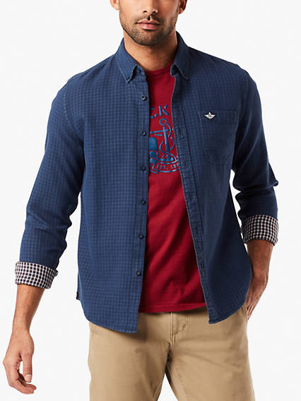 Laundered Poplin Shirt - Double Weave
