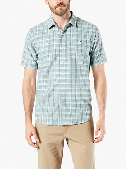 Performance Seersucker Short Sleeve Shirt