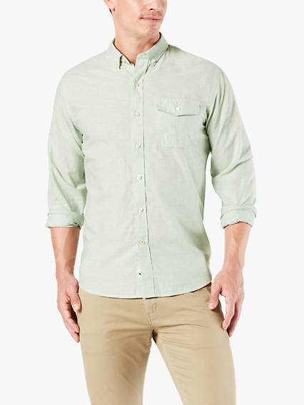 Convertible Linen Sleeve Shirt