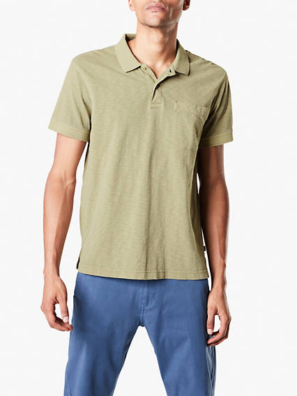 Men's Garment Dye Polo Shirt