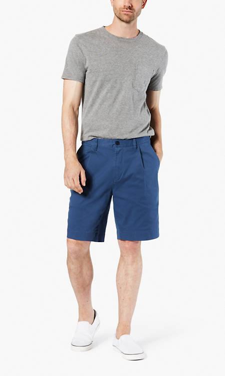 Dockers® Alpha Men's Khaki Seaworn Pleated Shorts, Relaxed Fit - Blue  698050002 | Dockers® US