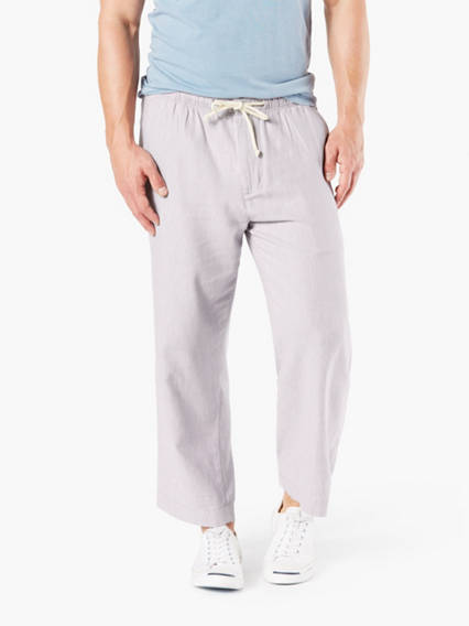 Alpha Chino, Straight Fit - Linen mix