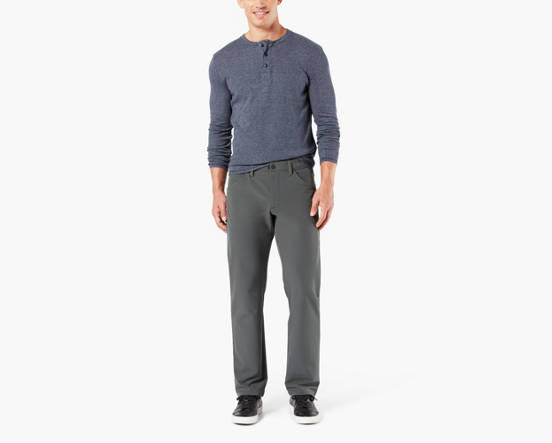 ca3abf41 Active Sport Pants With Smart 360 Flex™, Straight Fit - Grey ...