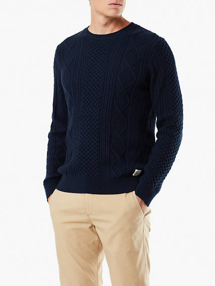 Cable-Knit Sweater Cotton